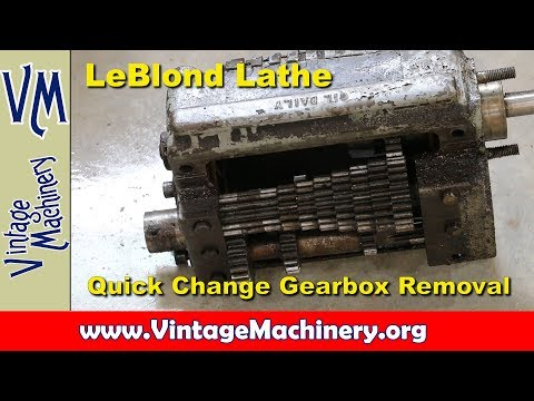 LeBlond Lathe Restoration - Part 3:  Quick Change Gearbox Re