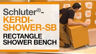 How to install a shower bench: Schluter®-KERDI-BOARD-SB