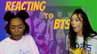 REACTING TO BTS FOR THE FIRST TIME