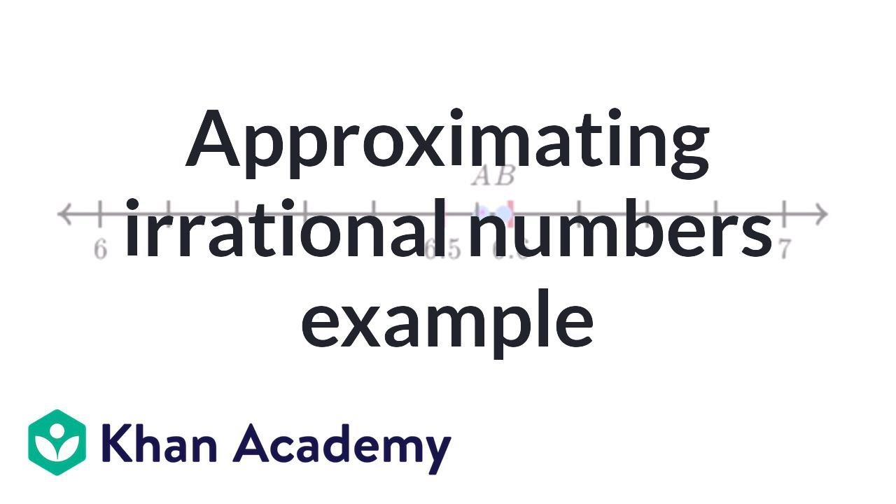 Approximating irrational number exercise example | Pre-Algebra ...