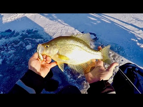 Ice Fishing Big Water For BIG Crappie