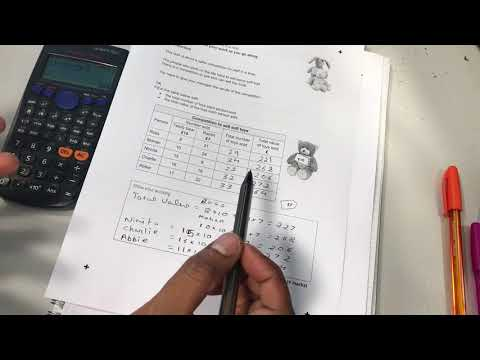 Functional Skills Maths Level 1 Sample test 1 Task 1