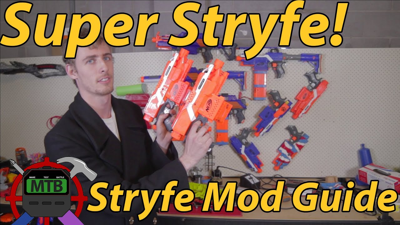 Your First Nerf Mod: How To Make A Super Stryfe | Make Test Battle on