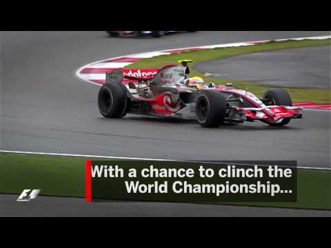 Lewis Hamilton's Pit Lane Disaster   2007 Chinese Grand Prix