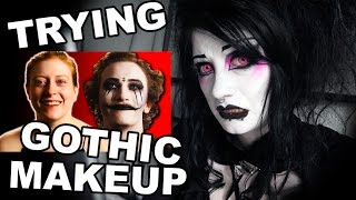 Goth Reacts to People Try Gothic Makeup for the First Time   Black Friday