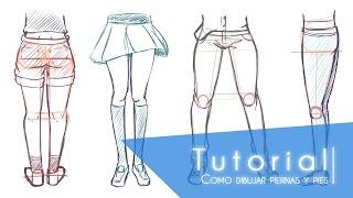 Tutorial ۰•●Como dibujar pies y piernas●•۰