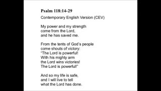 Psalm 118 My power comes from the Lord