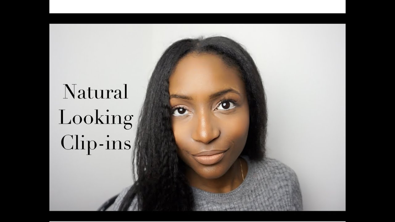 Natural looking clip ins for afro hair - YouTube