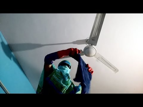 Covered Face Fan Cleaning vlog video || gag video || clean ceiling fan in one minute