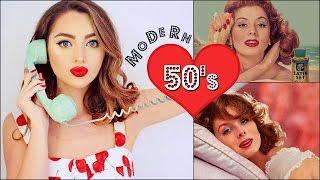 Classy 50's Makeup & Hair Tutorial + Modern Selfie Tips! Vintage Beauty
