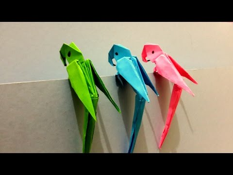 How to make Origami 3D Parrot - Best Origami Tutorial