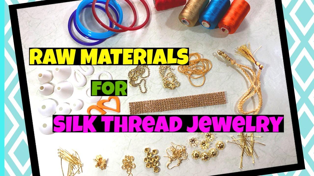 4aece7af3d Silk Thread Jewellery Making Supplies Silk Thread Bangles Silk