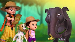 সিংহ রাজা আসছে - Wild Animals Song | Bengali Rhymes for Children | Infobells