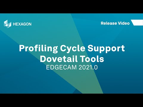 Profiling Cycle - Dovetail Tool Support | EDGECAM 2021