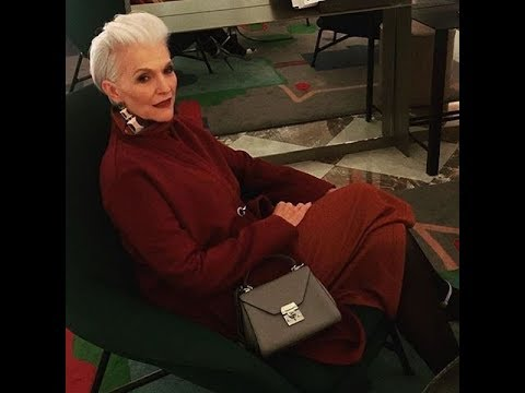 Women Over 50 Look's Collection. The Most Interesting Looks of Fashionable Woman Maye Musk.