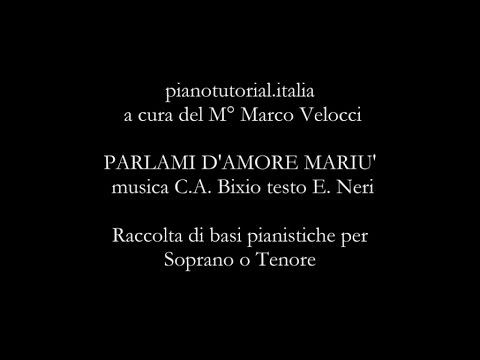Parlami D'Amore Mariù - C.A. Bixio  E. Neri - Backing track - piano bases collection