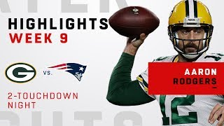 Aaron Rodgers' Double-TD Performance vs. Pats