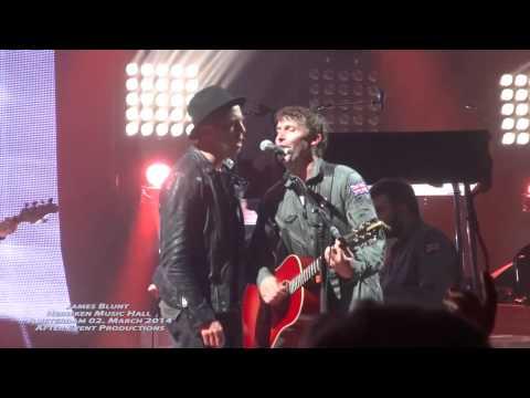 Bonfire heart - James Blunt - Amsterdam 02. March 2014 with Ryan Tedder