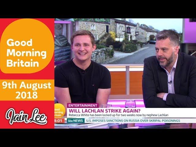 Emmerdales Thomas Atkinson aka Killer Lachlan White - Good Morning Britain