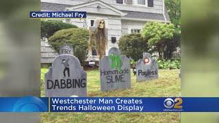 Halloween Display Memorializes 2017's Dying Trends