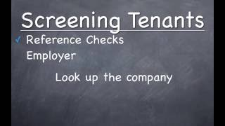 How To Screen Tenants - Landlord Tips For Beginners