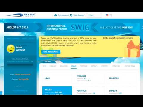 Skyway (SWIG) Account: Fund the account