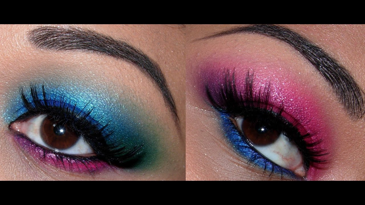 Pink Purple And Blue Green Eyes With Bright Orange Lips Youtube