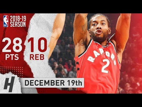 Kawhi Leonard Full Highlights Raptors vs Pacers 2018.12.19 - 28 Pts, 10 Reb, BEAST!