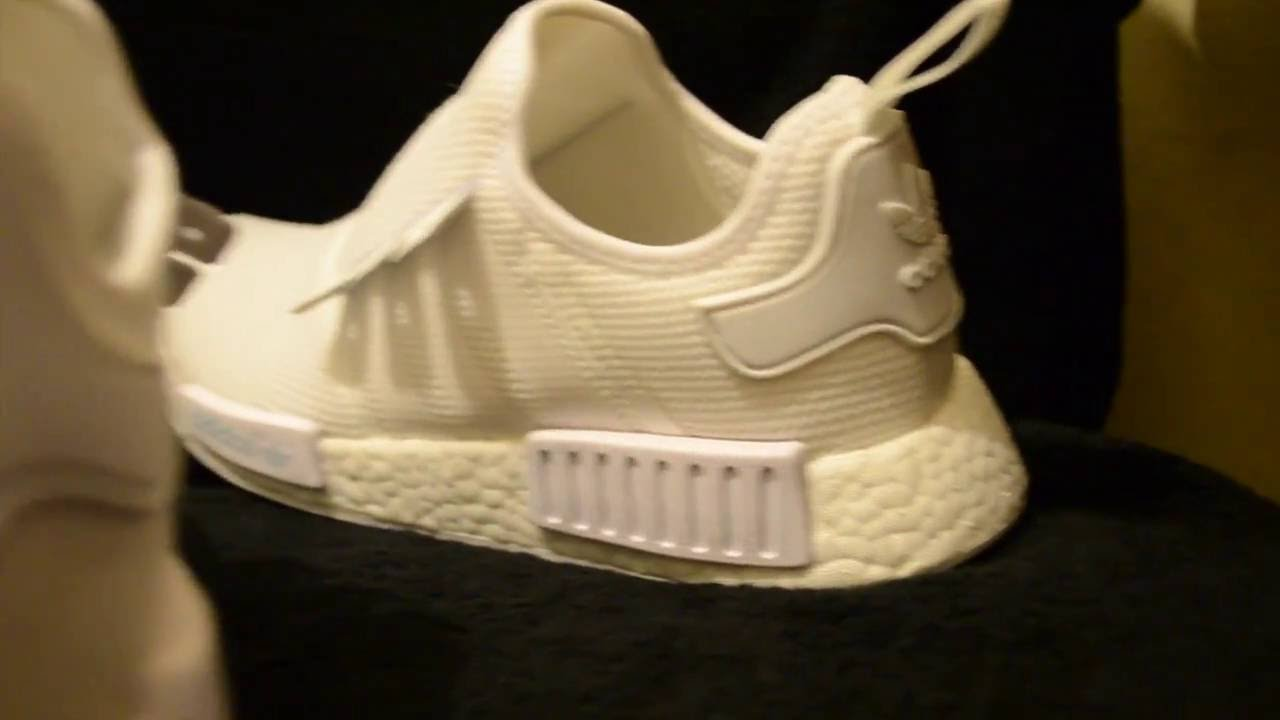 Cleaning Triple White NMD R1 - YouTube