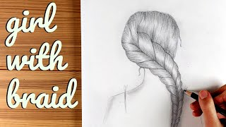 How to Draw a girl with braids - Step by step / Pencil Sketch / Ingrid Surprise Art #27