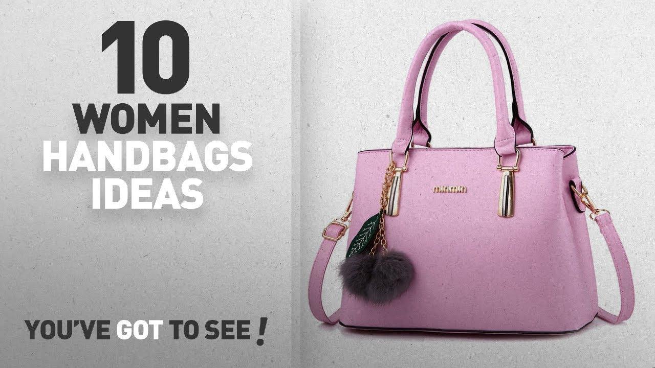 Top 10 Pink Handbag   Winter 2018    Dreubea Women s Leather Handbag Tote  Shoulder Bag Crossbody. Handbags   Wallets b9df9f057d721