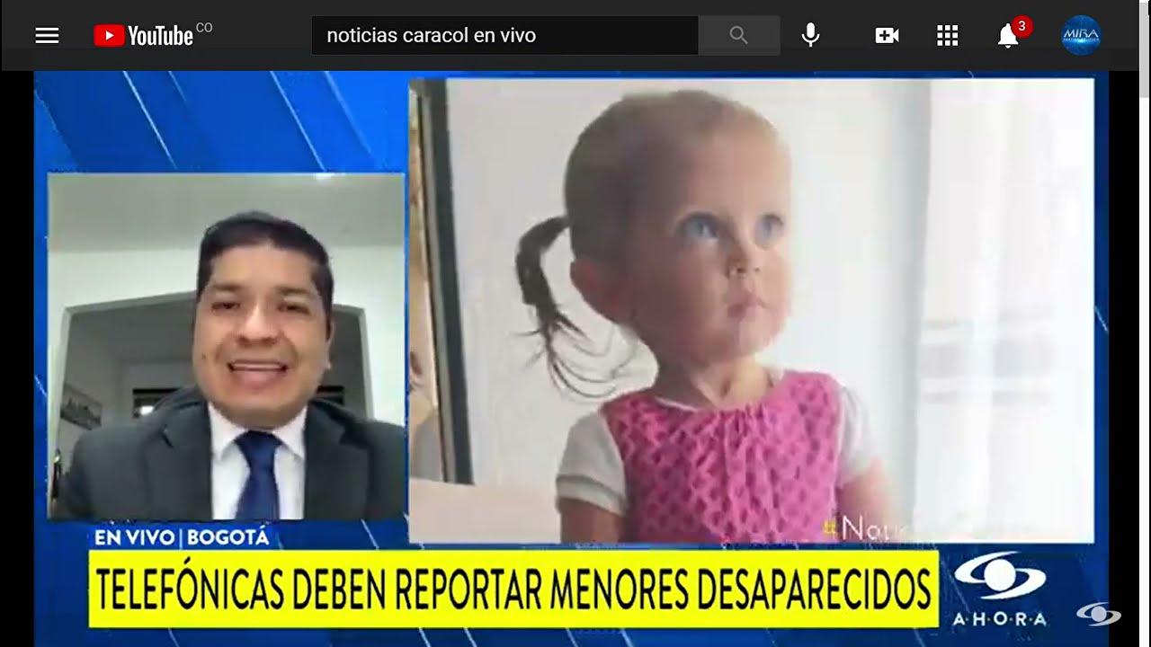 Senador Guevara: Sara Sofía y Alertas de Menores Desaparecidos (Noticias Caracol) #AmberAlert