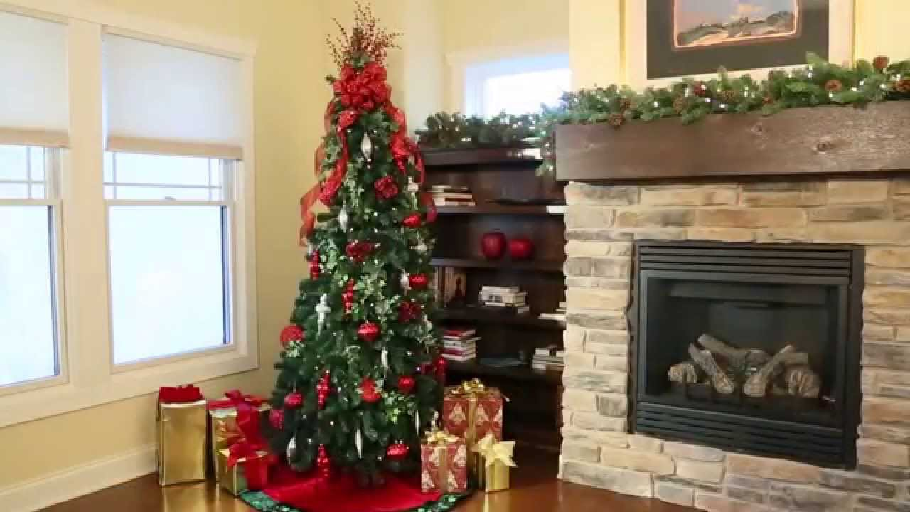 pre lit noble pine pull up christmas tree 6 12 improvements catalog youtube - Pull Up Christmas Trees Decorated