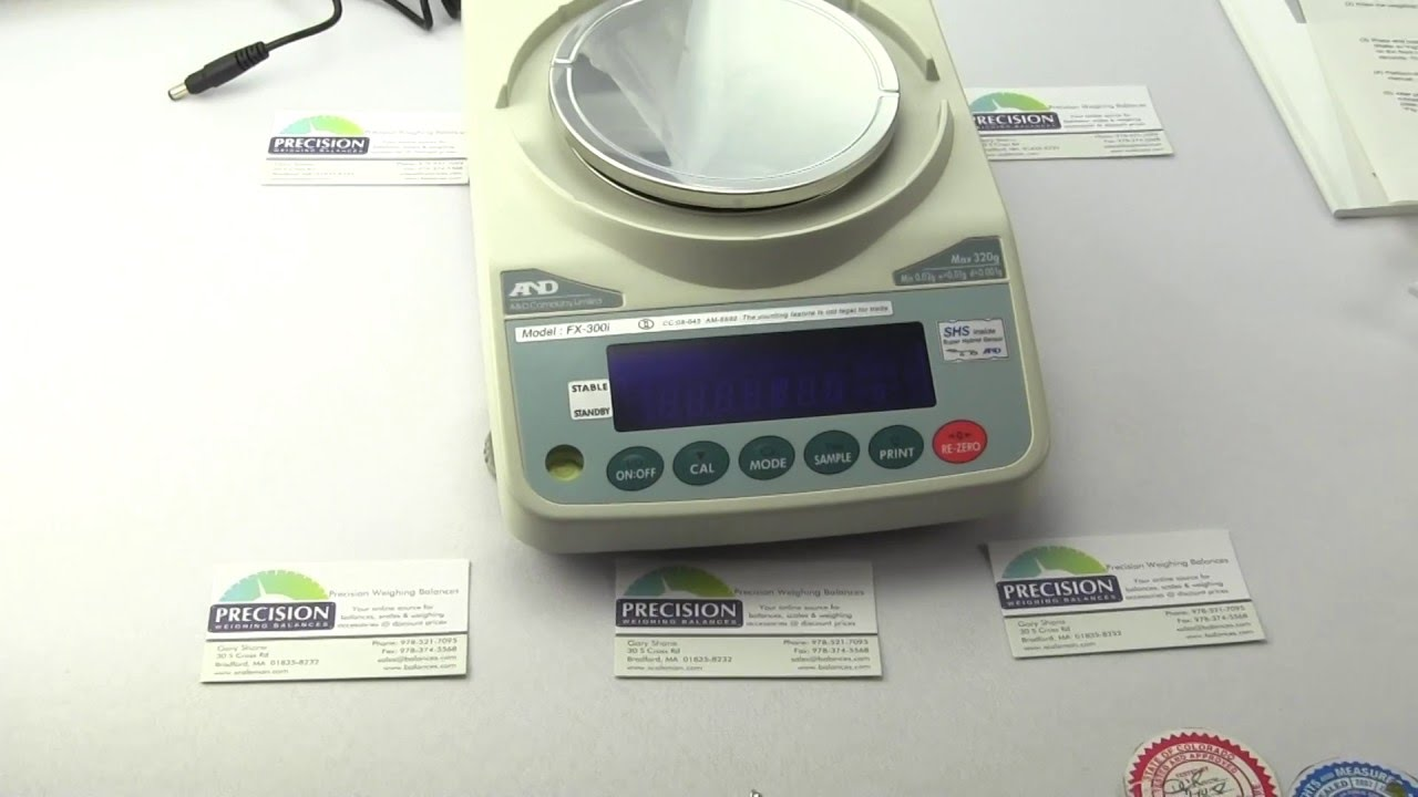A&D Weighing FX300iN NTEP approved class 2 scale Balance - Precision
