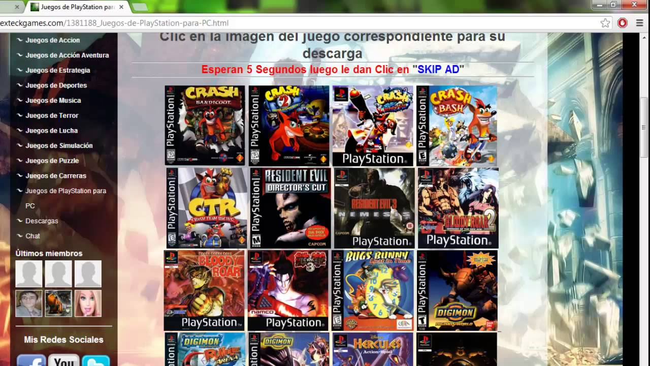 Descarga Juegos De Playstation Para Pc Full Español Youtube
