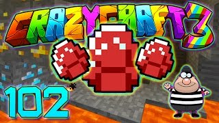 Minecraft Crazy Craft 3.0: RED DIAMONDS! VILLAIN-MAKER #102 (Modded Roleplay)