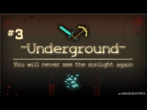 Minecraft: Underground Survival Ep.3-THE GRASS IS GROWING!
