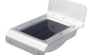 Солнечный светодиодный светильник с датчиком движения (Solar LED lamp with motion sensor)(Распаковка посылки с Китая - Солнечный фонарь с детектором движения Доставили за 26 дней, ссылка на товар..., 2015-08-05T21:51:10.000Z)