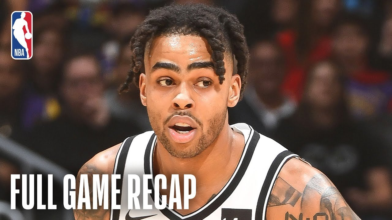 NETS vs LAKERS | D'Angelo Russell Goes For 21 & 13 Against Los Angeles  | March 22, 2019
