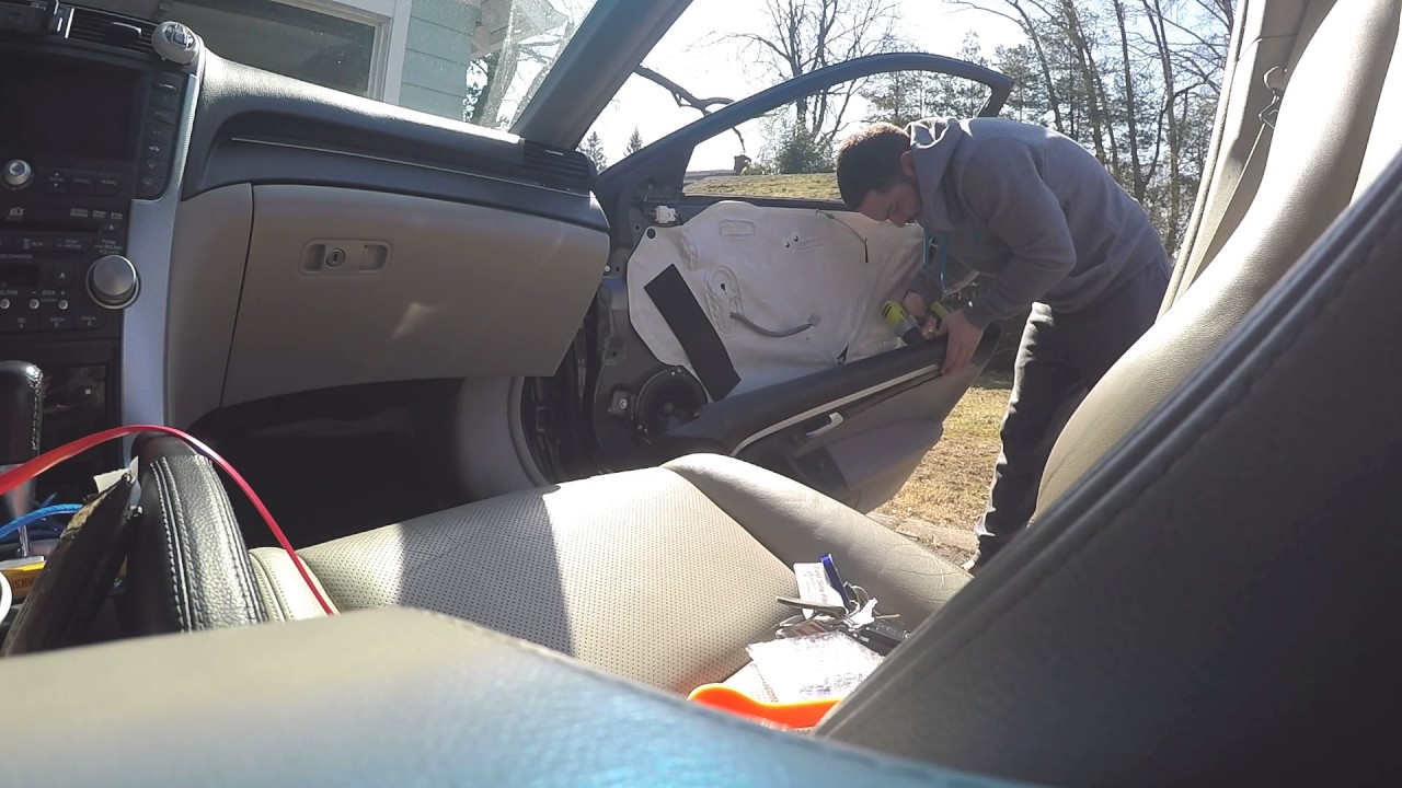 Acura tl 2004 2008 interior door removal and interior door - Installing a lock on a bedroom door ...