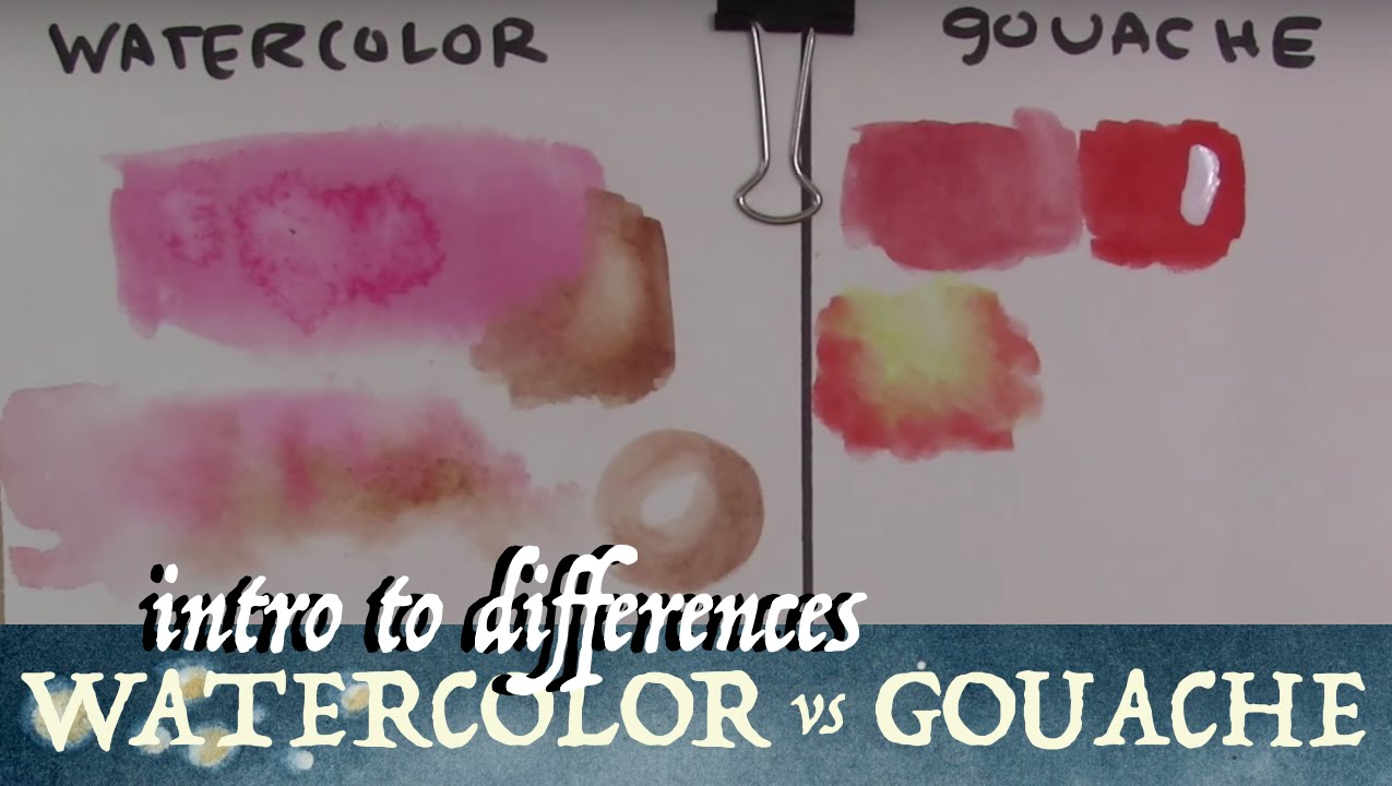 watercolor vs gouache intro to differences youtube