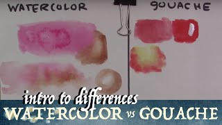 Watercolor VS Gouache: Intro to Differences