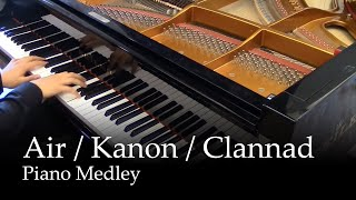 Repeat youtube video Air (TV), Kanon (2006), Clannad After Story - Piano Medley