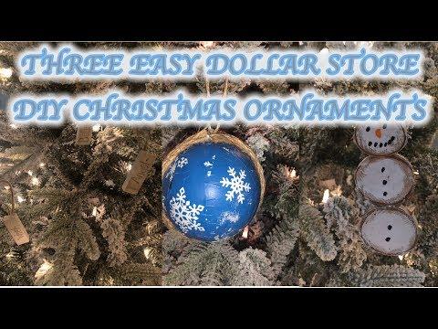 Three Easy Dollar Store DIY Christmas Ornaments