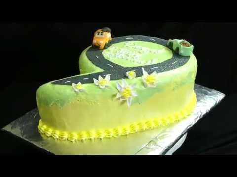торт цифра 9 | сборка | торт цифра 6