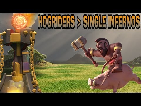 HOGRIDERS ARE GREATER THAN SINGLE TARGET INFERNOS-CLASH OF CLANS-TH10
