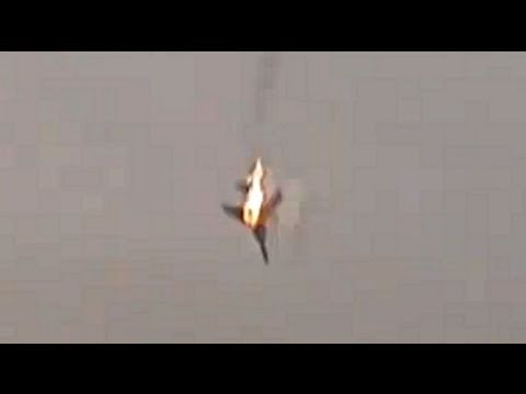 Libya: jet fighter shot down - Libye: avion de chasse abattu (March 19 2011)