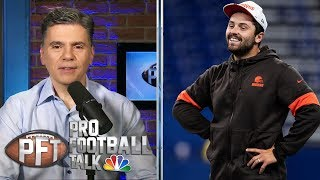 Are Baker Mayfield's comments on Daniel Jones true to form? | Pro Football Talk | NBC Sports