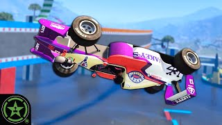 Parkour with F1 Cars - GTA V: Obstacle Course