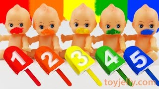 Learn to Count Colors Ice Cream Play Doh Popsicles Baby Doll Finger Family Song Nursery Rhymes